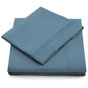cosy house collection bed sheets peacock blue queen size